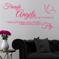 Friends are Angels Wall sticker / decals